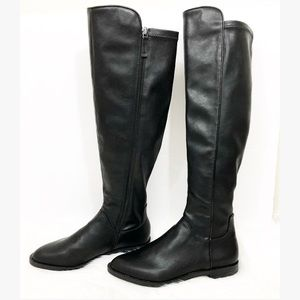 New Franco Sarto Varick Black Leather Riding Boots
